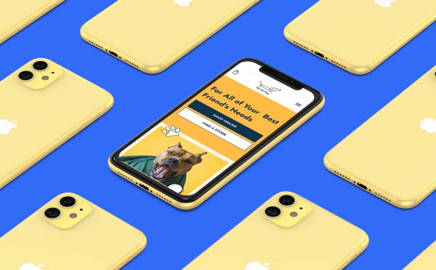 online pet store mobile