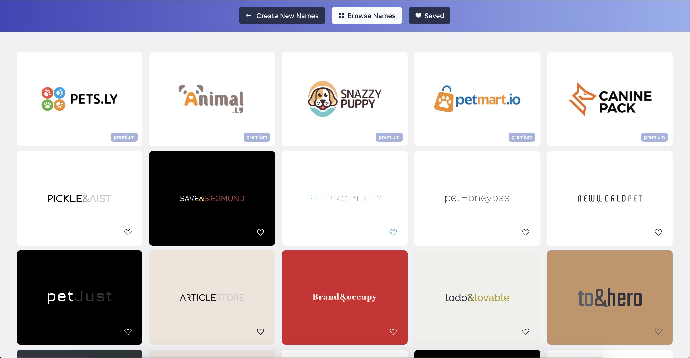 online pet store namelix