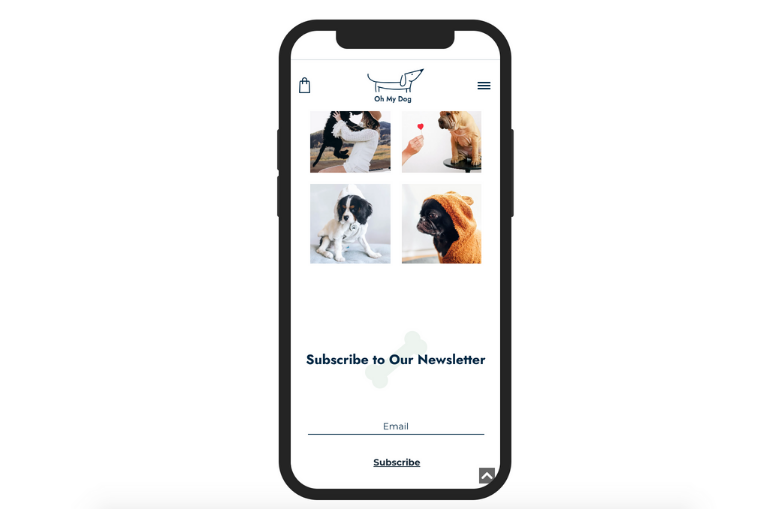 online pet store mobile version